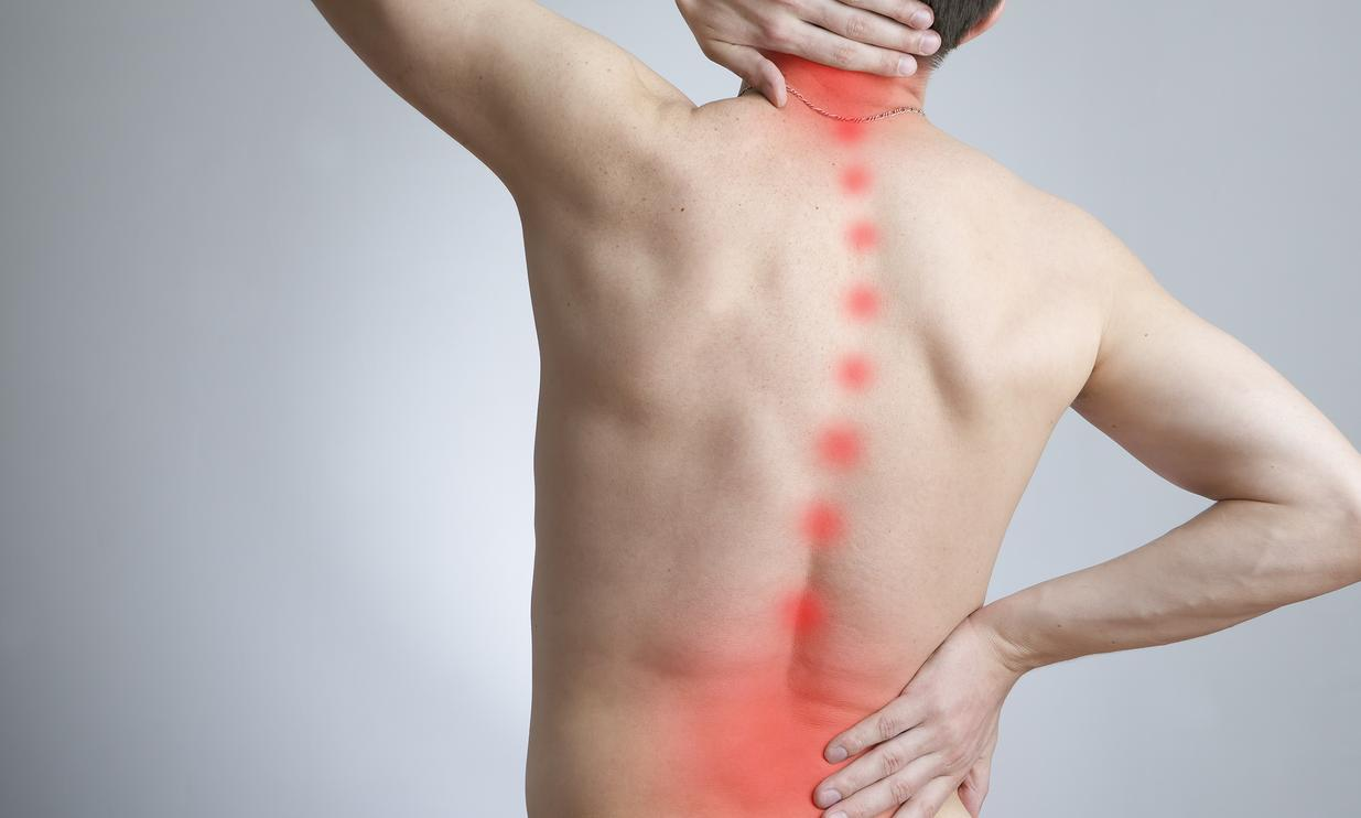 Man with neck and back pain in Edmonds, WA